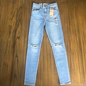 Levi's Mile High super skinny distressed jeans